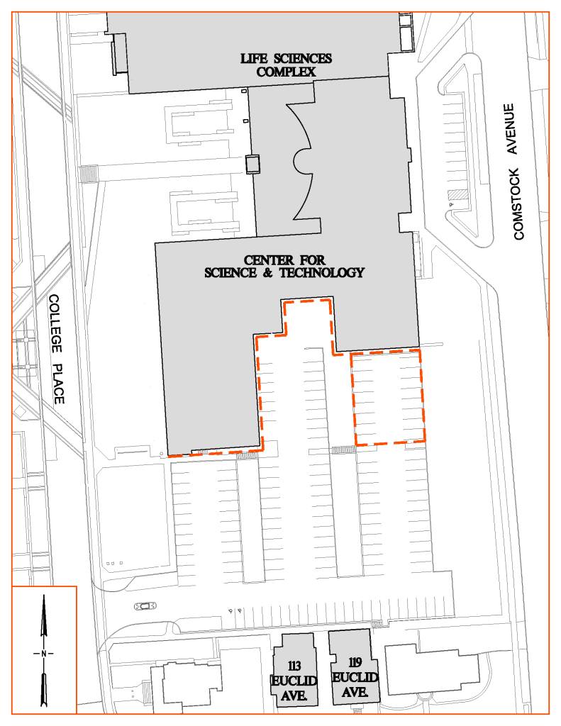 Map of CST Siding Staging Area