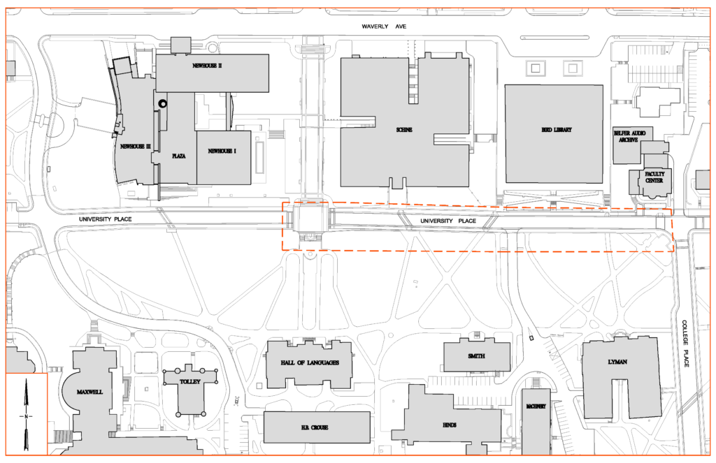 University Place Promenade Site Impact Map