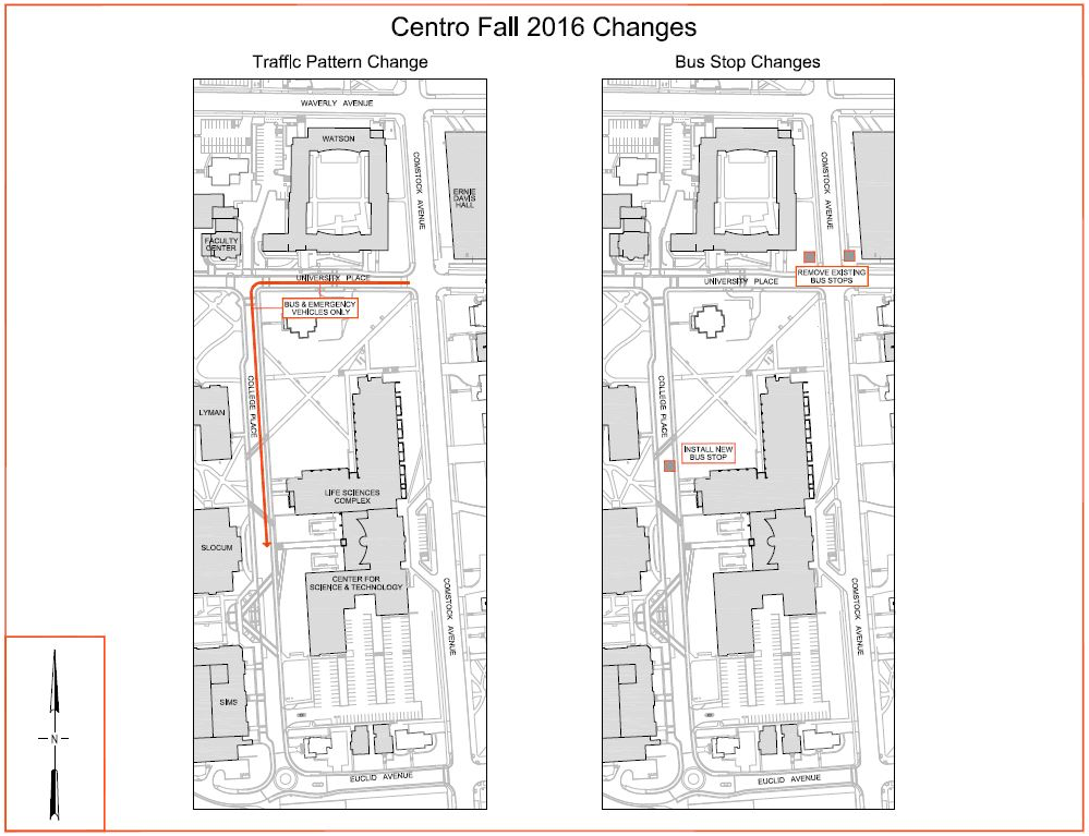 Comstock Ave. New Traffic Pattern Map