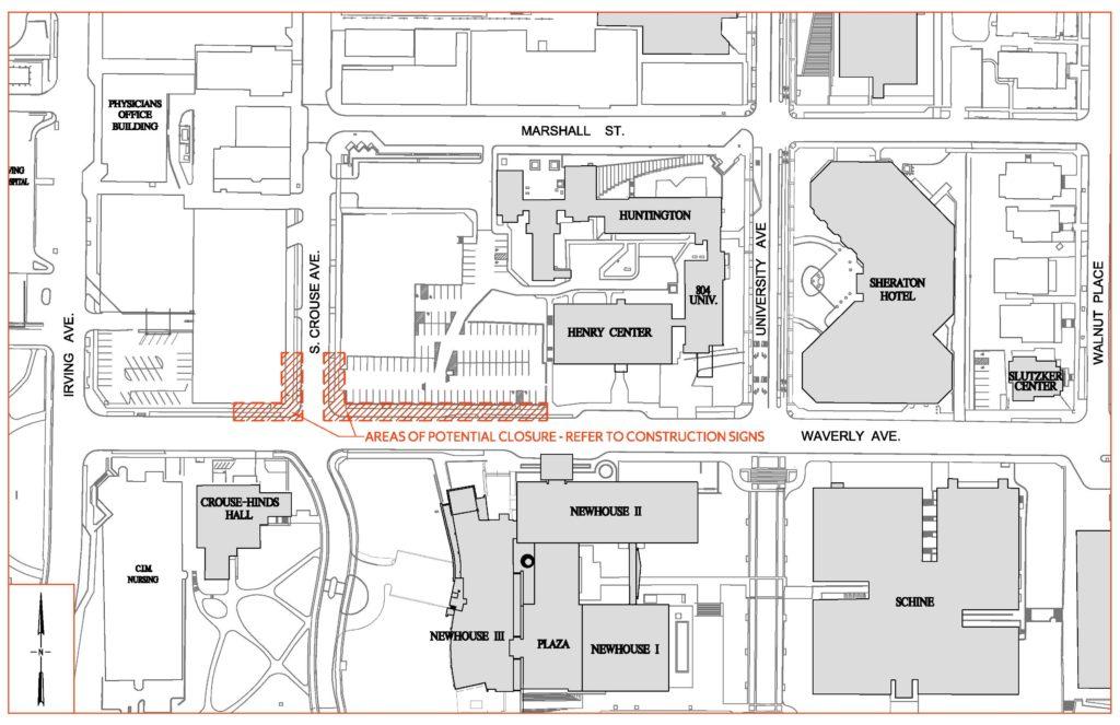 Waverly Sidewalk Closure