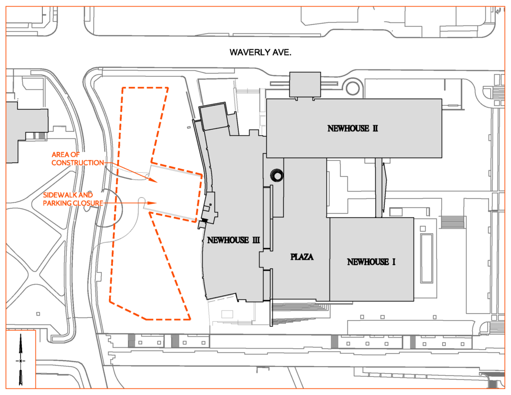 Construction Map of Newhouse III Fencing